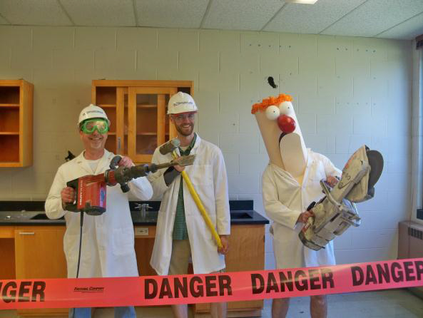 A.C.E. Building Service and Manitowoc Lutheran High School kick off new science rooms renovation
