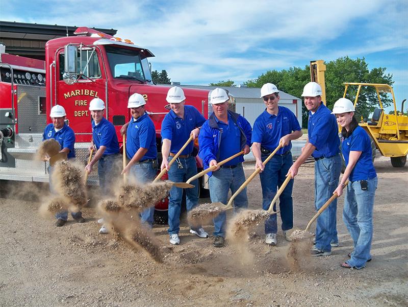 Maribel Fire Department Ground Breaking, Maribel, WI
