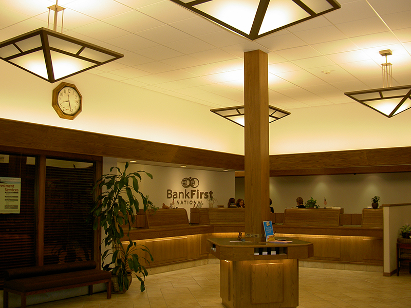 Bank First National Lobby, Manitowoc WI | Renovations, Expansions | A.C.E. Building Service, Manitowoc Wisconsin