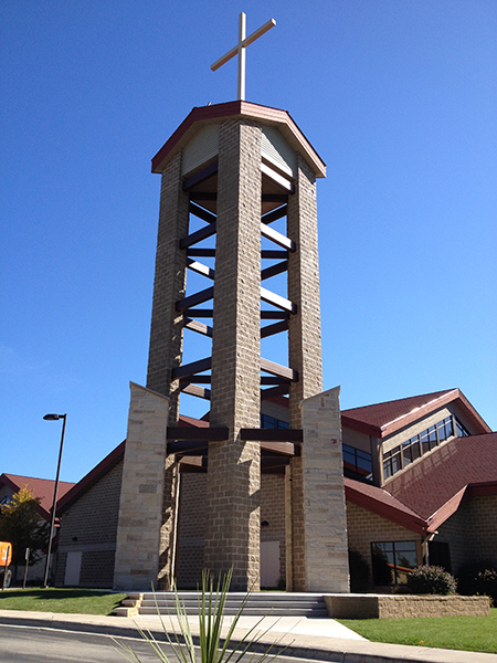 St. Peter the Fisherman Belltower, Two Rivers WI | Religious Portfolio | A.C.E. Building Service, Manitowoc Wisconsin